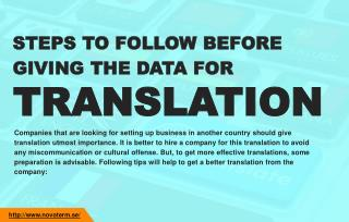 How you should prepare your data for translation