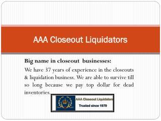 Merchandise Liquidators| Overstock-Closeout buyers