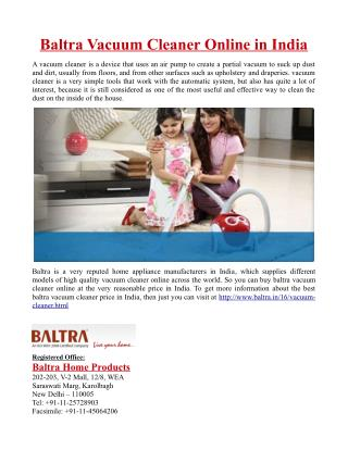 Baltra Vacuum Cleaner Online in India