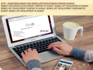 Mobile Application Development Company In Kuwait