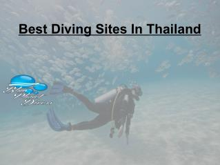 Diving Sites in Thailand
