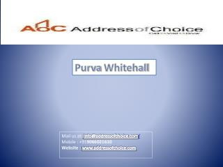 Purva Whitehall New Lanuch Project Bangalore, Sarjapur Road