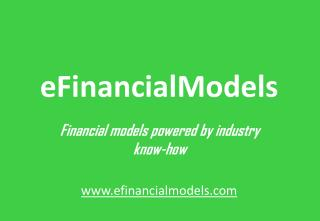 eFinancial models powered by industry know-how