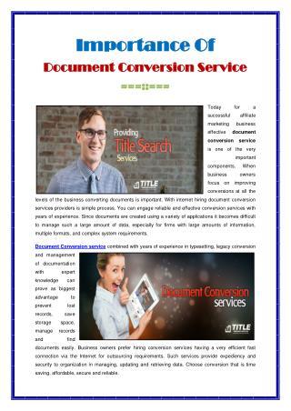 Document Conversion Service