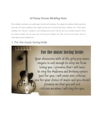 10 Funny Groom Wedding Vows