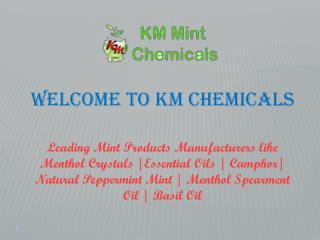 Natural Menthol Crystals Manufacturers Manufacturers