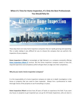 Professional Home Inspections