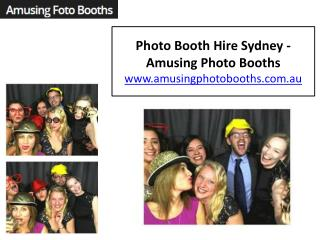 Photo Booth Hire Sydney - Amusing Photo Booths