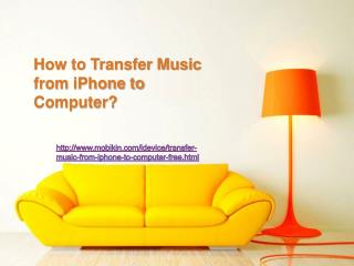 How to transfer music from iphone to computer ?