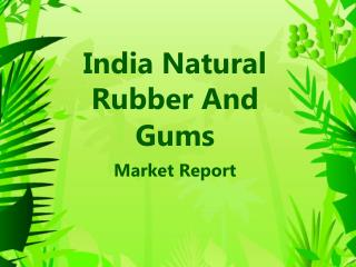 India Natural Rubber And Gums Market Report