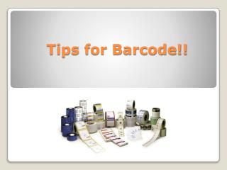 Barcode Supplies & Thermal Transfer Printing