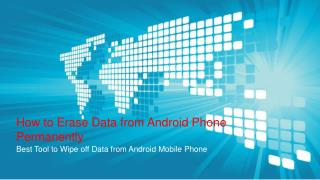 Erase Data from Android Phone Permanently