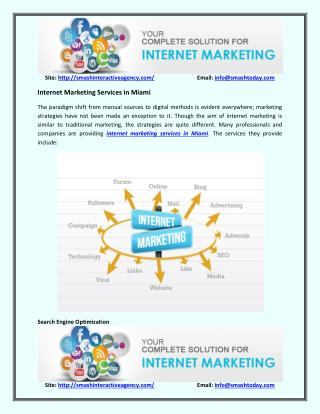 Internet Marketing Services Miami