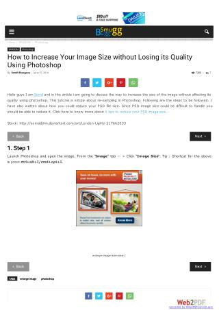 How to Increase Your Image Size without Losing its Quality Using Photoshop