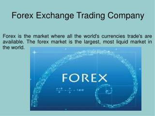 Forex Exchange Trading Company