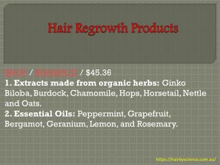Hair Regrowth Products - hairbyscience.com.au