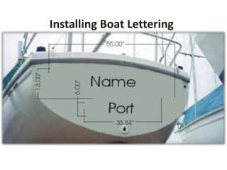 Installing Boat Lettering