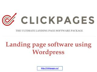 Landing page software using Wordpress
