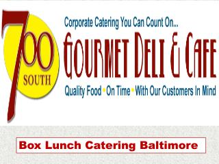 Southdeli-Box Lunch Catering Baltimore