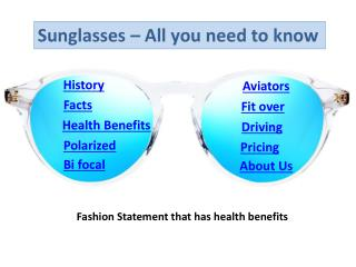 Sunglasses - All you need to know