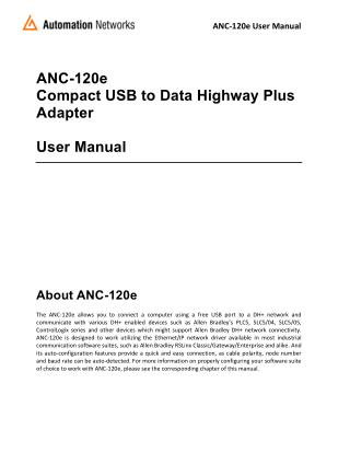 Compact USB to DH  Converter User Manual