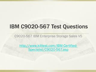 IBM C9020-567 Test Questions Killtest