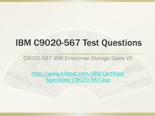 IBM C9020-567 Test Questions Killtest