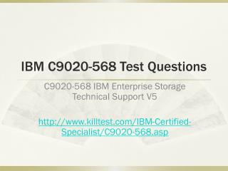 IBM C9020-568 Test Questions Killtest