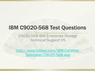 IBM C9020-568 Test Questions Killtest