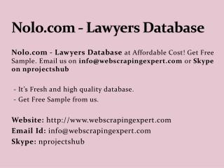 Nolo.com - Lawyers Database
