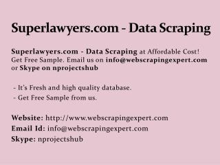 Superlawyers.com - Data Scraping