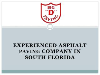 Experienced Asphalt Paving Company in South Florida