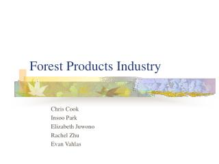 Forest Products Industry