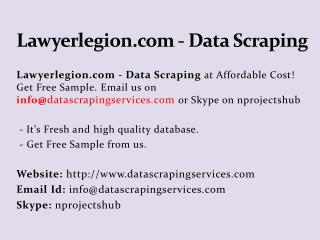 Lawyerlegion.com - Data Scraping