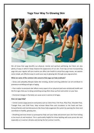Yoga your way to glowing skin