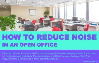 How to reduce noise levels in an open office?