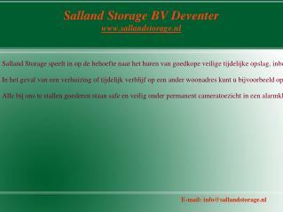 Bedrijfsvoorraad opslag | Salland Storage Bv Deventer