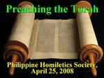 Philippine Homiletics Society, April 25, 2008