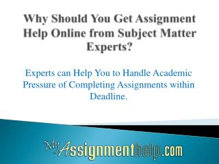 Where Can I Get Assignment Help