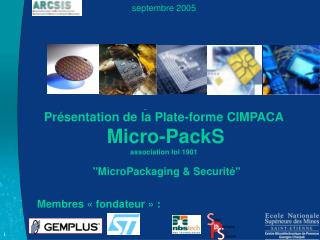Septembre 2005          Pr sentation de la Plate-forme CIMPACA  Micro-PackS association loi 1901   MicroPackaging  Secur