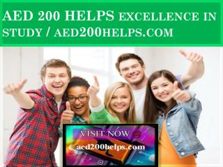 AED 200 HELPS Excellence In Study / aed200helps.com