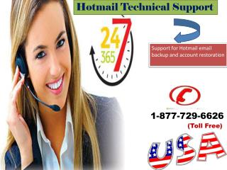 Hotmail Technical Support ? Dial 1-877-729-6626 Account not sending and receiving pending mails.