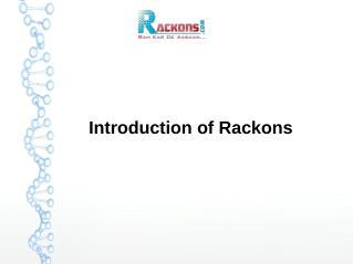 Rackons Company Presentation