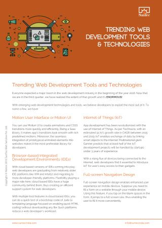 Trending Web Development Tools and Technologies