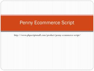 Penny Ecommerce Script - PHP Scripts Mall