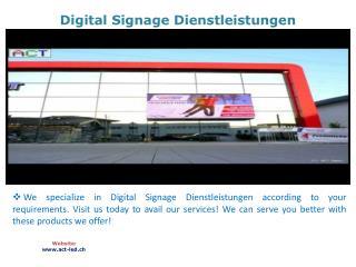 Digital Signage Dienstleistungen