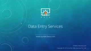 SunTec's Efficient Data Entry Services