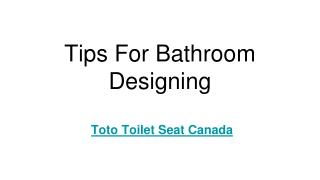 Tips For Bathroom Designing
