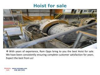 Hoist for sale