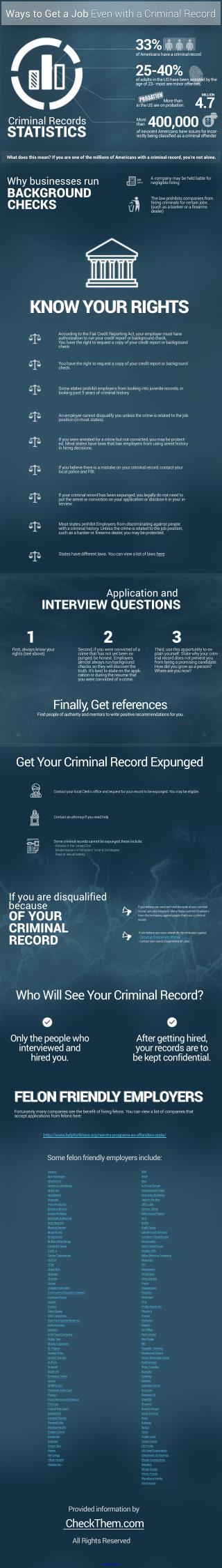 Ways to Get a Job Even with a Criminal Record